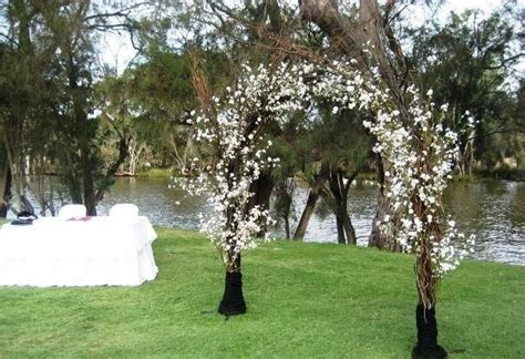 Wedding Arch Made Of Sticks by Branch Wedding Arch With White Flowers Branches