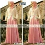 Recomend Gamis Livia Dress 03 Baju Gamis Wanita Busana maxi pesta s141 kombinasi brokat gaun gamis muslim brukat