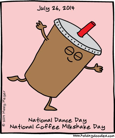 july   national dance day national coffee milkshake day  juuuuly pinterest