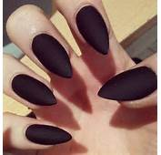Matte Black Acrylic Nails Square