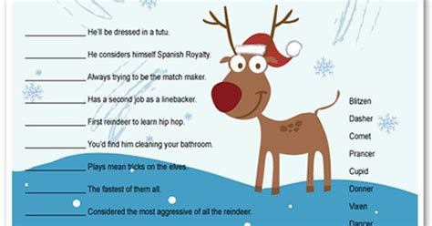 printable reindeer games they re like fun riddles who printable reindeer games they re like fun riddles who