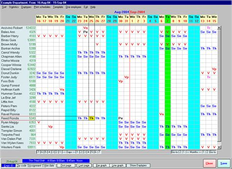 nursing staff schedule template rostering software