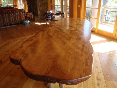 rustic table rustic dining tables  edge wood slabs