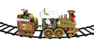 animated north pole express musical christmas train set