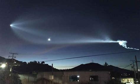 imagenes extrañas en texcoco lanzamiento de satelites al espacio causa sensaci 243 n en el