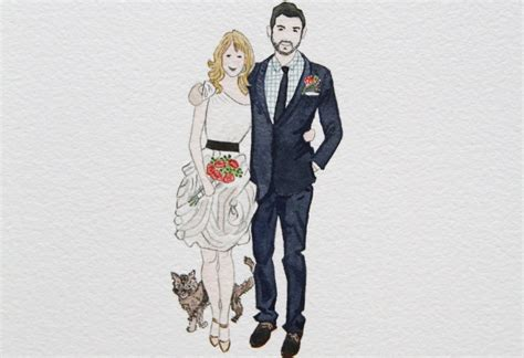 Wedding Illustration by Custom Wedding Illustration Of And Groom Onewed