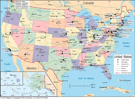 map of states in usa and canada map of united states and canada