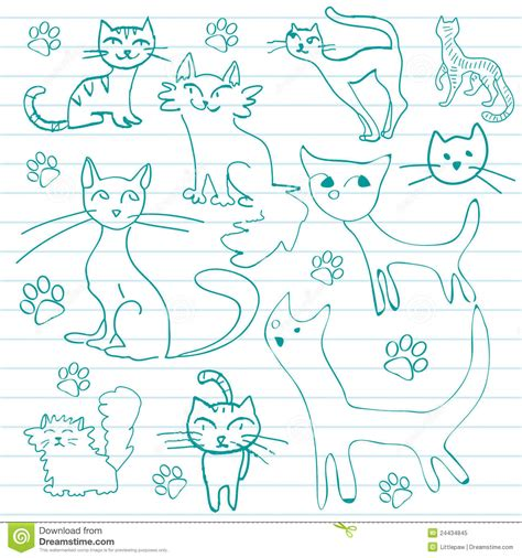 doodle cat free cat doodles royalty free stock photo image 24434845