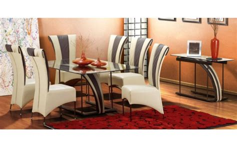 dining room suit new home furnishers 187 lucci metal glass diningroom suite