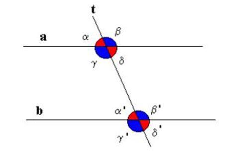 angoli alterni interni rette parallele tagliate da una trasversale