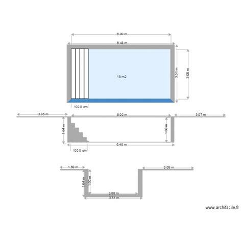 Garage Plans With Loft piscine plan en coupe plan 1 pi 232 ce 18 m2 dessin 233 par