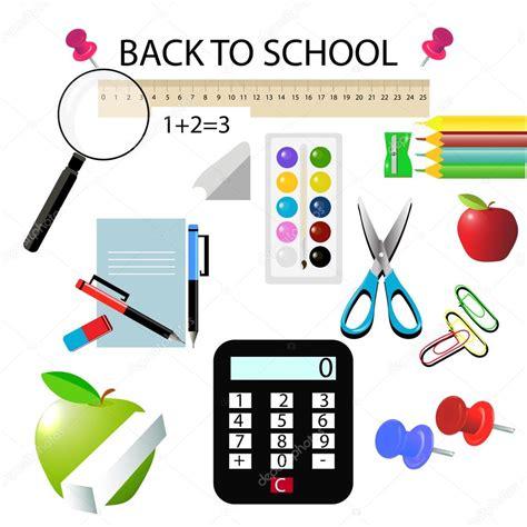 imagenes de objetos escolares regreso a la escuela ilustraci 243 n de vector de objetos