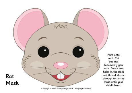 printable rat mask mouse mask printable rat mask printable con 241 i 241 os