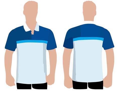 Kaos Para Desainer Grafis Putih gambar vektor gratis kemeja polo baju kaos depan