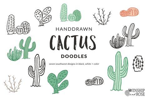 cactus doodle cactus doodle clip illustrations creative market