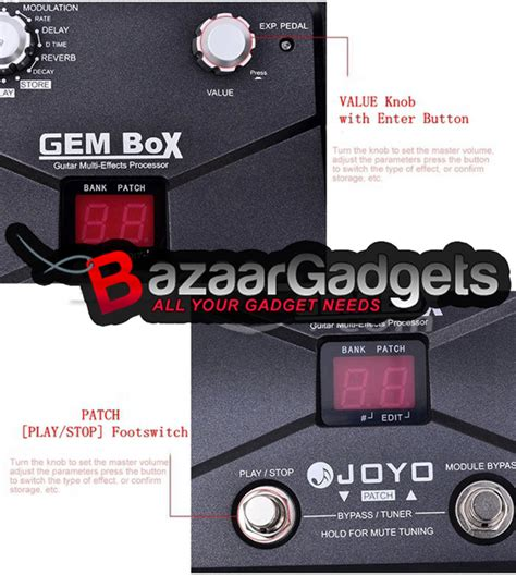 Joyo Gem Box Guitar Multi Effects Processor Pedal buy joyo gem box guitar multi effects processor pedal