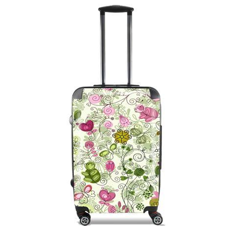 flower doodle bag doodle flowers for lightweight luggage bag cabin