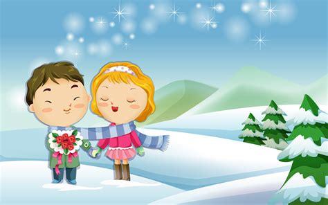 wallpaper animasi salju 55 wallpaper kartun cinta romantis terbaru bangiz
