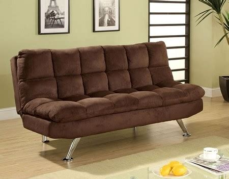futons durham nc futon sofa chocolate brown plush microfiber pillow top futon