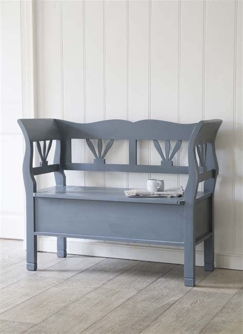 small bench seat with storage hungarian settle bench small in charcoal spruce