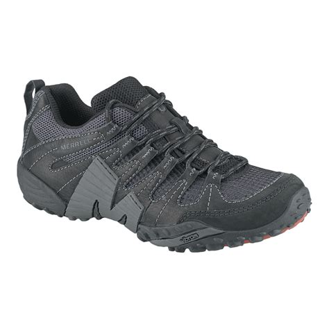 merrell s pivot lace hiking shoes black granite