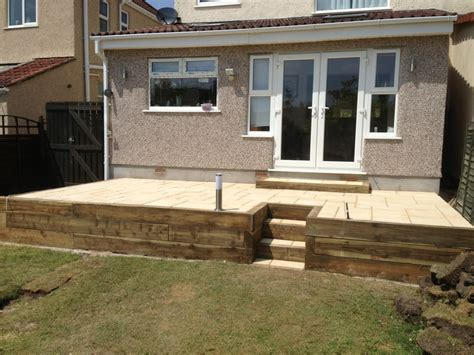 Raised Patio Edging by Landscaping Vyv Davies The Builder