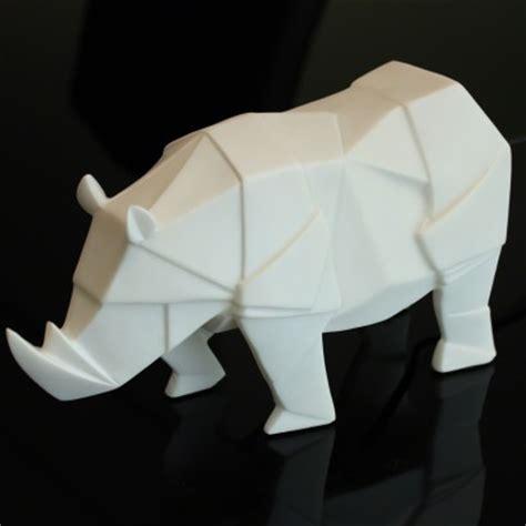Rhino Origami - disaster designs origami white rhino l