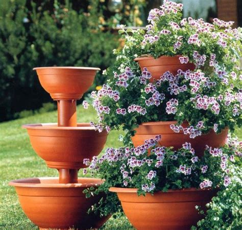 Flower Tower Planter 95 Three Tier Plant Stand With Flower Tower Planter