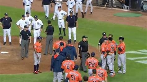 baseball benches clear yankees astros clear benches after carlos gomez bat flip