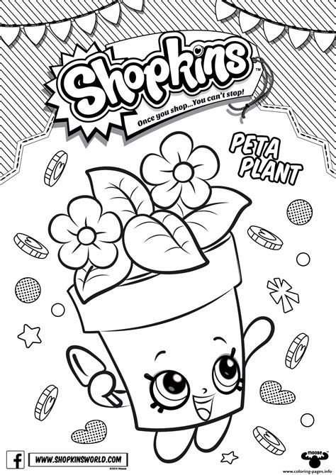coloring book pages shopkins peta plant coloring pages printable