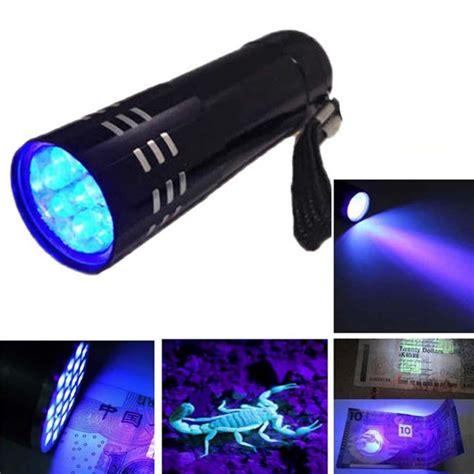 Senter Mini Ultraviolet 9 Led Mini Alumunium Uv Flashlight mini aluminum cree led uv ultra violet 9 led flashlight