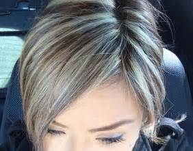 shag haircut brown hair with lavender grey streaks platinum highlights hair pinterest highlights and