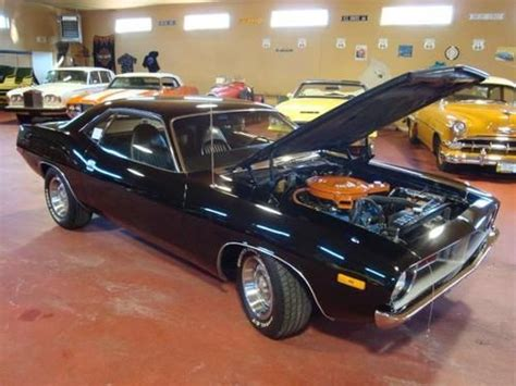 Handgrip Barracuda sell used 1972 plymouth cuda 340 mopar black pisol grip rally sport restored classic in
