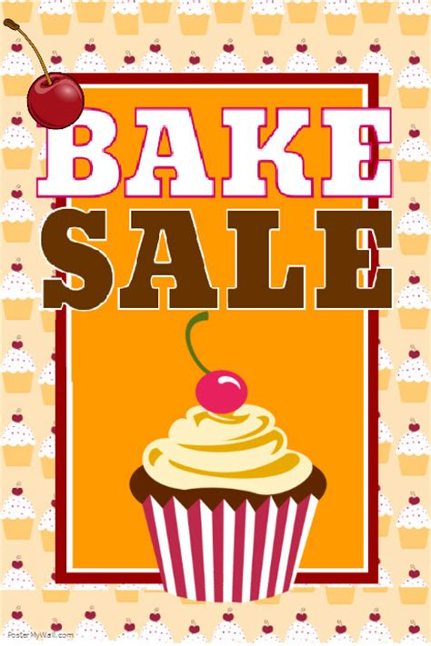 templates for bake sale flyers bake sale template postermywall