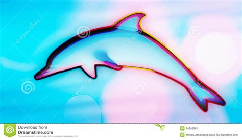 colorful dolphins colorful psychedelic dolphin jumping stock illustration