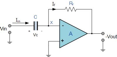 circuit diagram of integrator and differentiator using op differentiator lifier the op differentiator