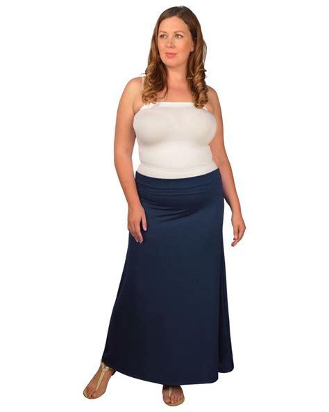 womens plus 1x 2x 3x navy blue fold waist flare