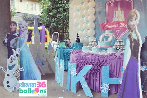 frozen themed party venue mikha s 7th birthday frozen theme eleven36 party