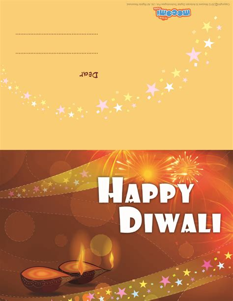 printable diwali gift cards diwali diyas diwali greeting card for kids mocomi