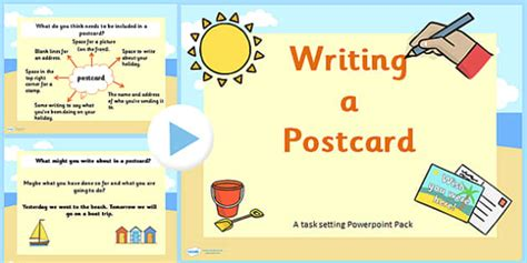 postcard template year 2 how to write a postcard powerpoint task setter ks1 writing