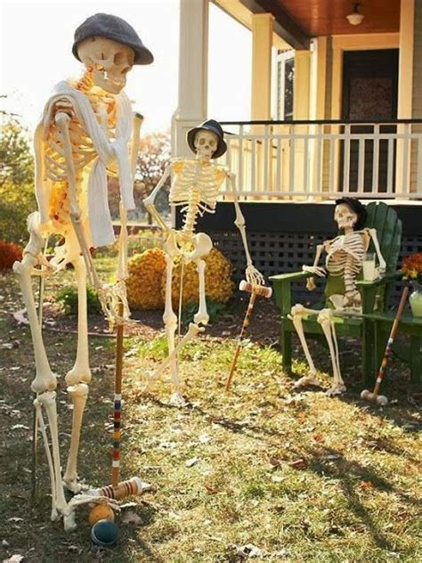 skeleton decoration ideas 31 creepy and cool yard d 233 cor ideas digsdigs
