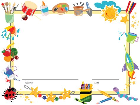 free preschool powerpoint templates kindergarten diploma certificate ppt template