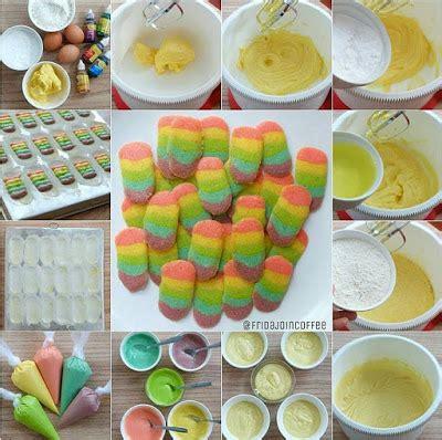 cara membuat kue kering rainbow resep dan cara membuat kue kering lidah kucing rainbow