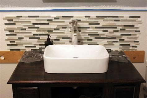 Glass Tile Backsplash Ideas Bathroom Bathroom Backsplash Ideas For Bathroom Design Bathrooms Sink Vanity Glass Tile Pictures
