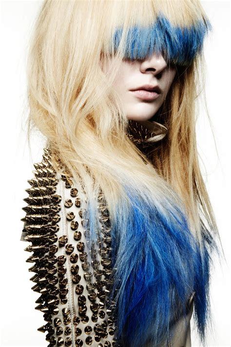 hairstyles dip dyed hair blue and white hair 4 free hair color pictures