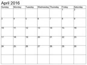 april 2016 monthly calendar printable gallery calendar