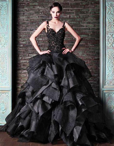 black wedding dresses 15 beautiful black wedding dresses bridal gowns