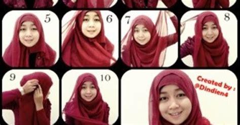 tutorial jilbab hias cara mudah memakai kerudung segi empat tutorial hijab