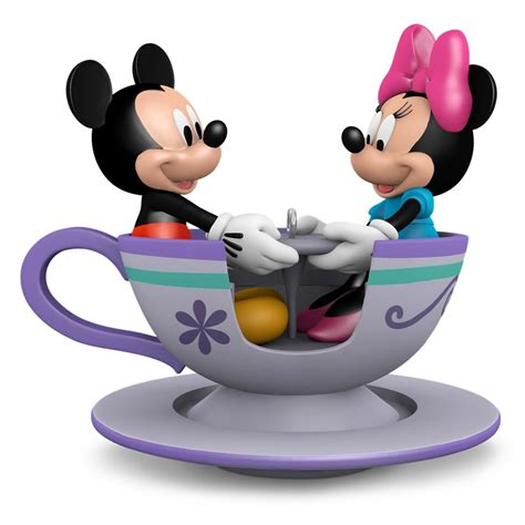 mickey and minnie ornaments 2016 teacup for two mickey and minnie mouse hallmark