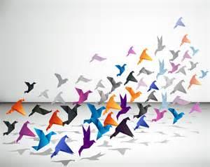Origami Graphic Design - フリーイラスト素材 イラスト 折り紙 鳥 飛ぶ 紙 id 201312161100 gatag